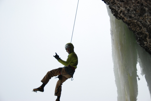 Lowering off 'Northwest Passage'
