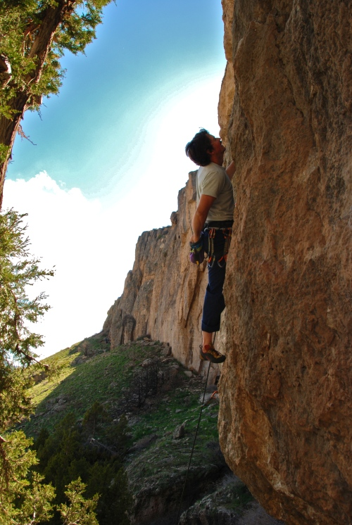 EC - Spook Eyes 5.12b (photo by Leslie)