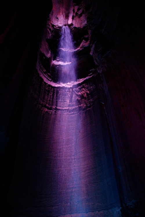 Ruby Falls - This waterfall is INSIDE a mountain that overlooks Chattanooga.