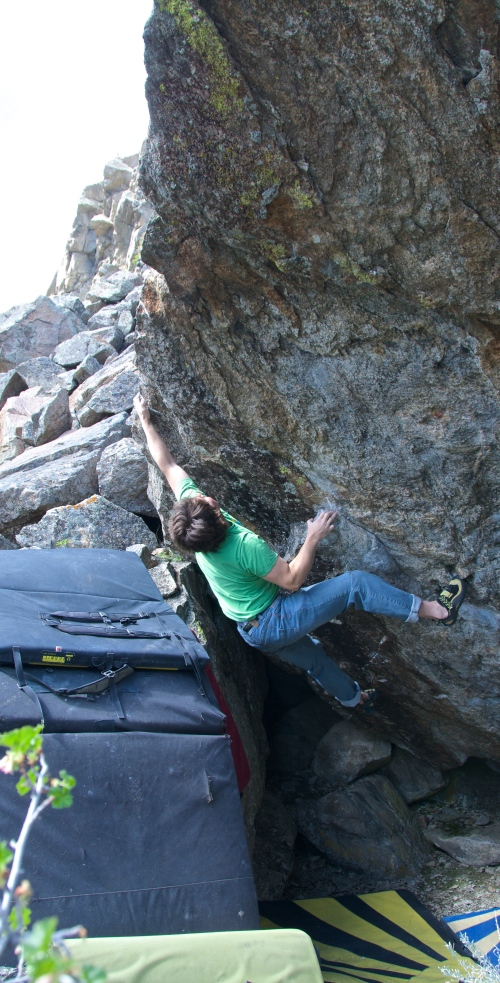 Crux move on Montana's Most Wanted V7
