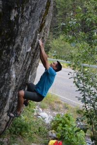 Ho - Overhangatang V5 - Hyalite Canyon