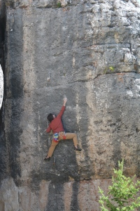 EC - Don't Bring Your Guns to Town 5.12c - Wild Iris (photo by Chris Ennis)