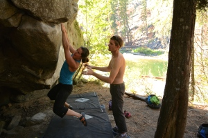 Jess - Footless Traverse V5 - Leavenworth