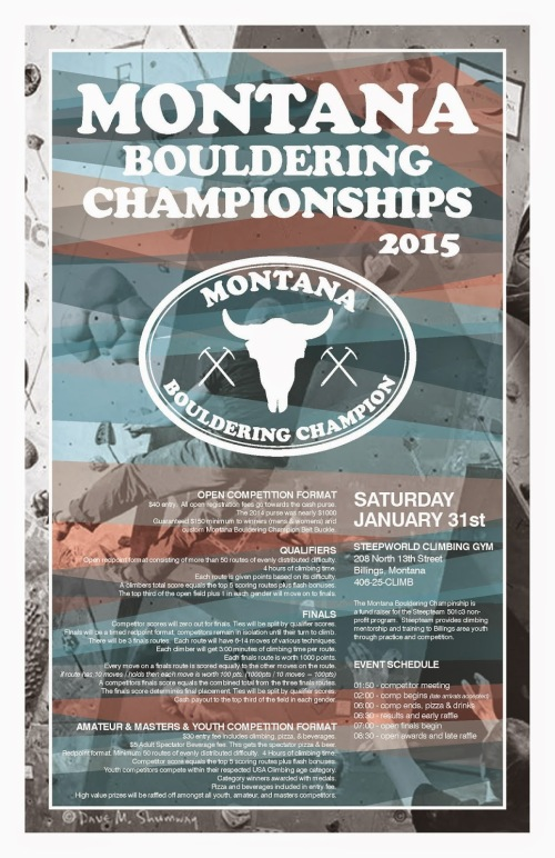 Montana Bouldering Championship POSTER - 2015