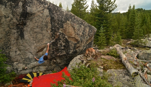 EC - Down with Disease V6, FA, Hidden Lakes, MT